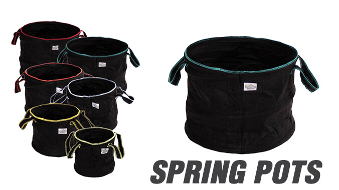 Fabric grwo bags from Spring Pots